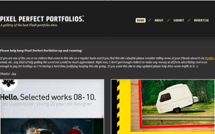 pixelperfectportfolios homepage
