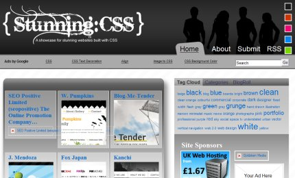 stunningcss homepage