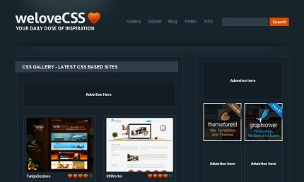 welovecss homepage