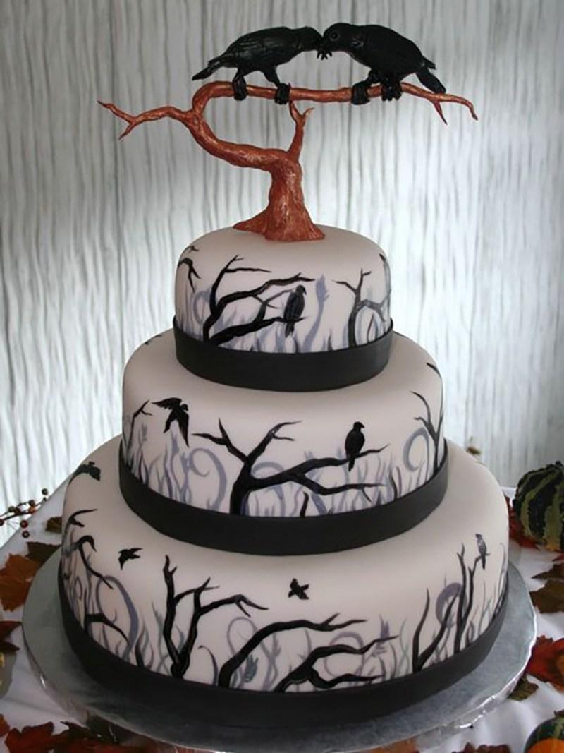 Large Of Halloween Wedding Cakes