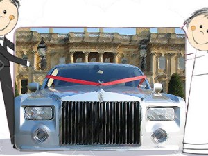 modern wedding car