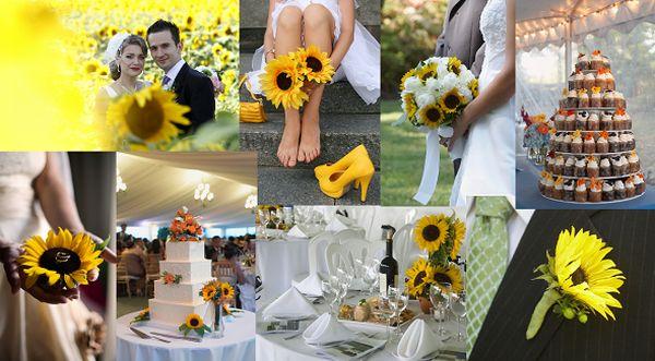 Sunflower theme wedding