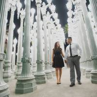 LACMA Engagement Pre wedding Photography Session Los Angeles