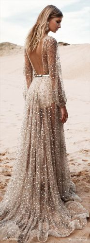 top beach wedding dresses ideas to stand you out beach wedding dress ideas Stunning Open back Beach wedding dresses with shining beads