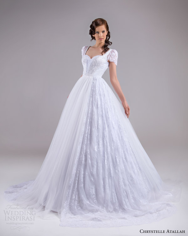 Chrystelle atallah spring 2015 wedding dresses crazyforus for Puff sleeve wedding dress