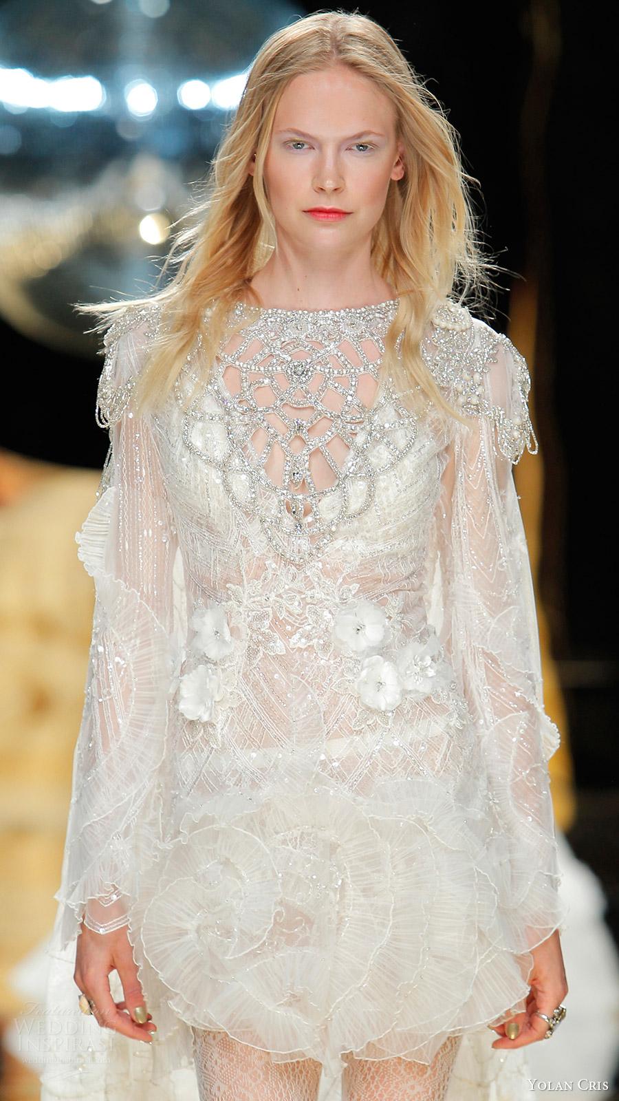 Yolancris Long Sleeve Wedding Dress : Yolan cris bridal wedding dresses crazyforus