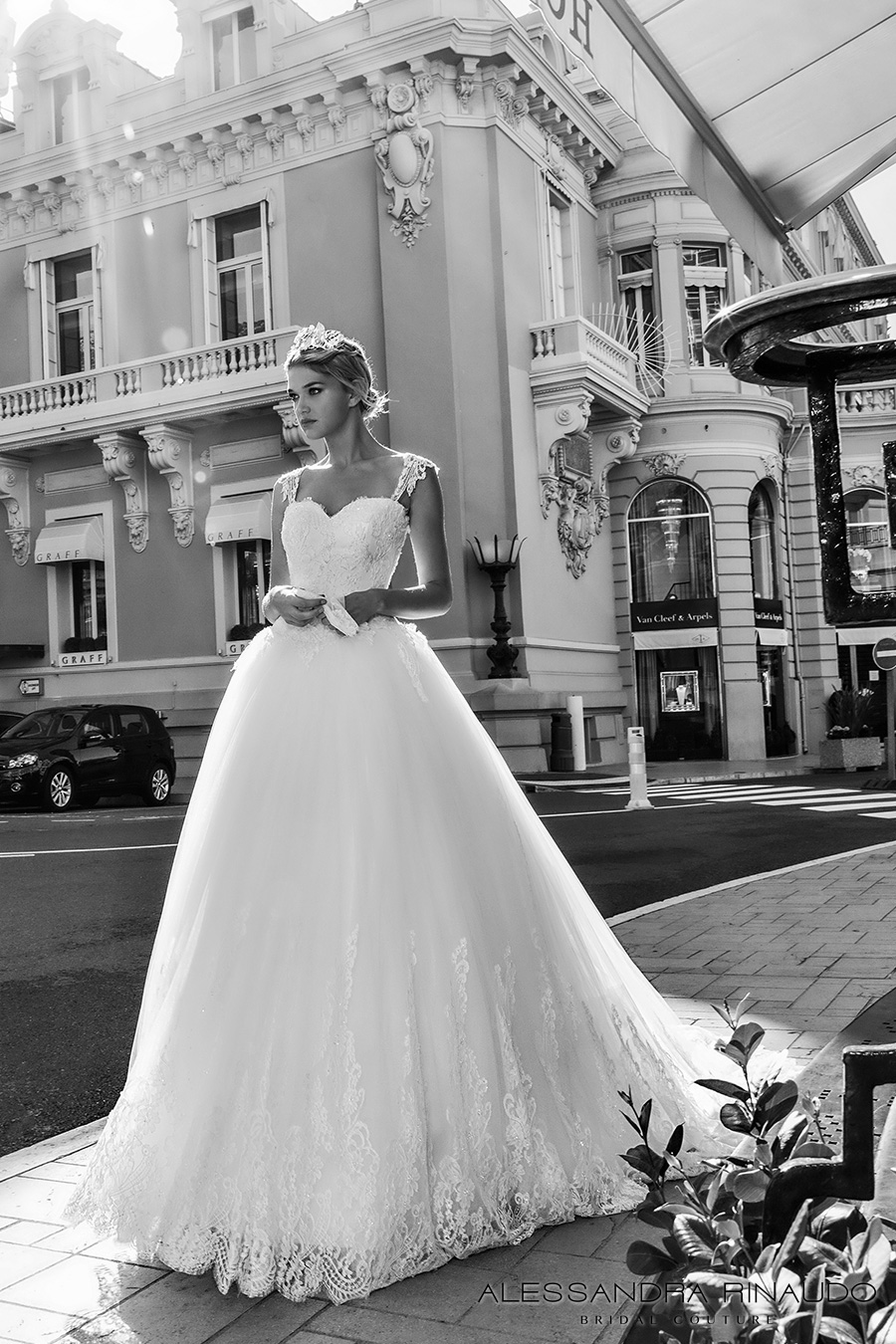 alessandra rinaudo 2017 bridal cap sleeves lace strap sweetheart neckline heavily embellished bodice princess ball gown wedding dress lace back royal long train (bonny) mv