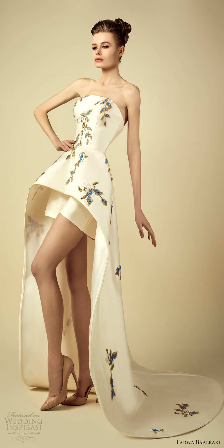 fadwa baalbaki spring 2017 couture strapless a line high low short dress (7) mv train