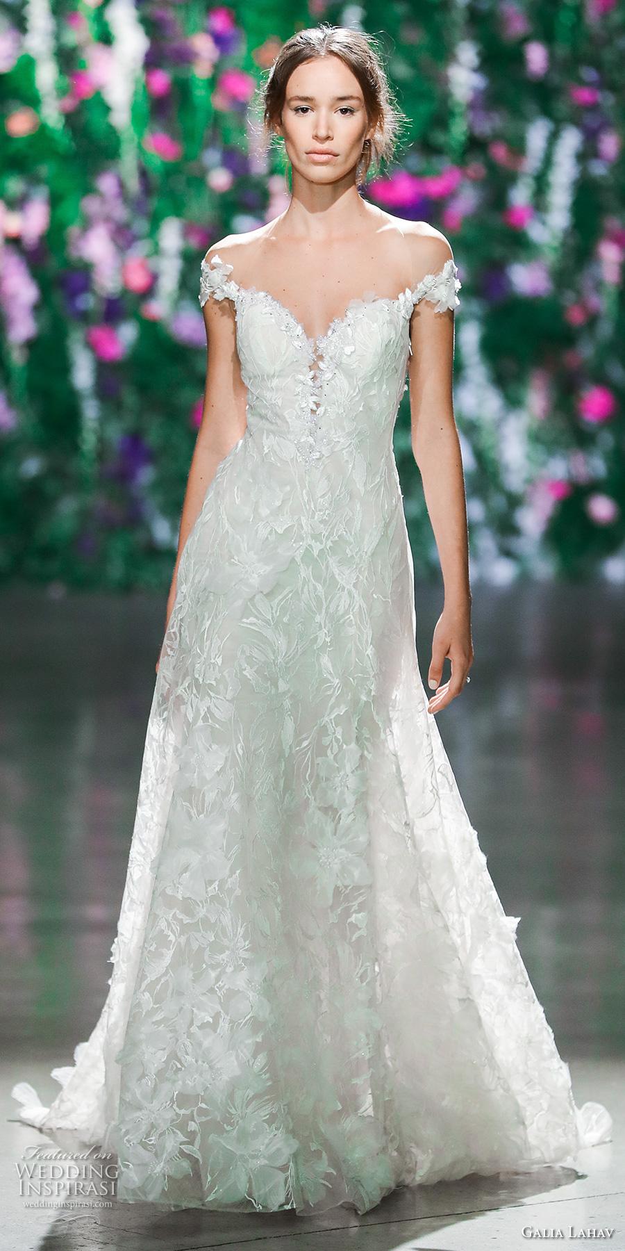 galia lahav fall 2018 bridal off the shoulder sweetheart neckline full embellishment elegant romantic a line wedding dress (2) mv