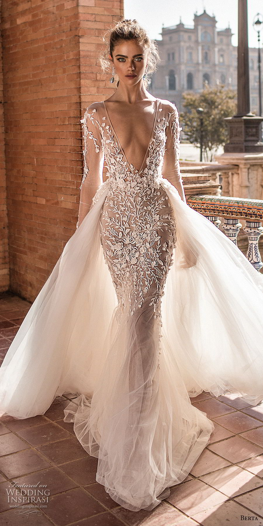 Berta fall 2018 wedding dresses crazyforus for Sexy fitted wedding dress
