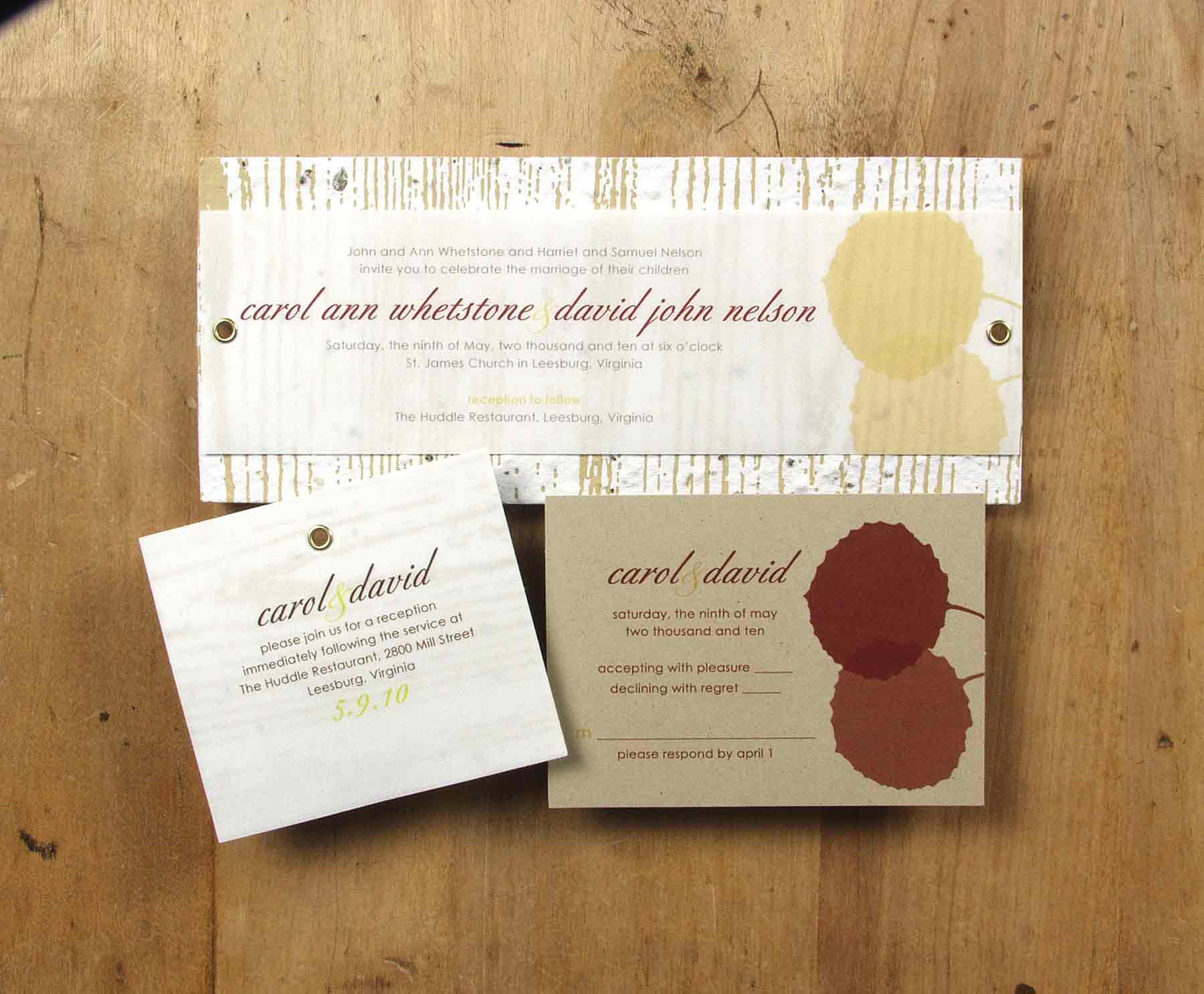 plantable invitations by bloomin plantable wedding invitations