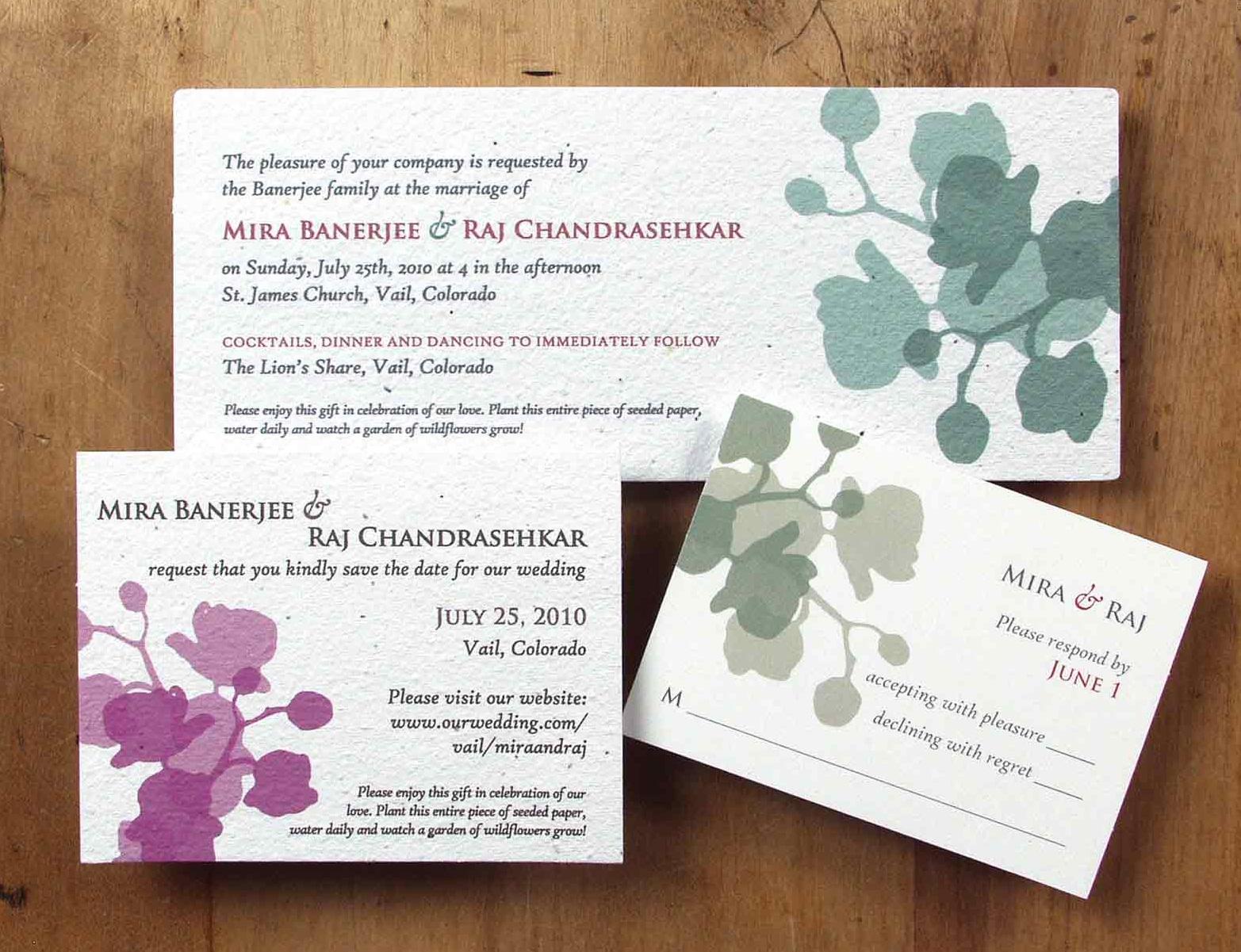 plantable paper wedding invitations plantable wedding invitations Plantable Invitations By Bloomin