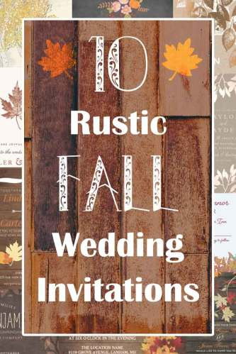 rustic fall wedding invitations autumn wedding invitations 10 Rustic Fall Wedding Invitations