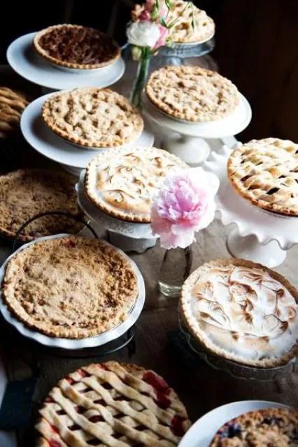 Pie Bar For Your Wedding