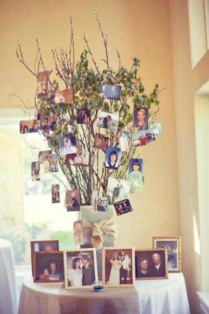 22 cute family tree ideas for your wedding decor - Family Tree Design Ideas