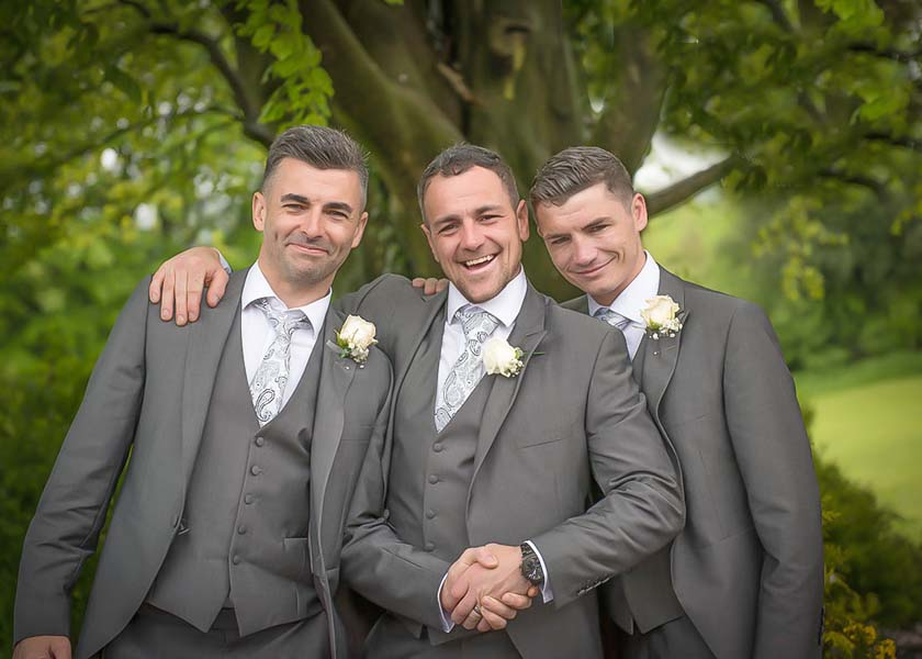 The groom and his men Stirk House Hotel