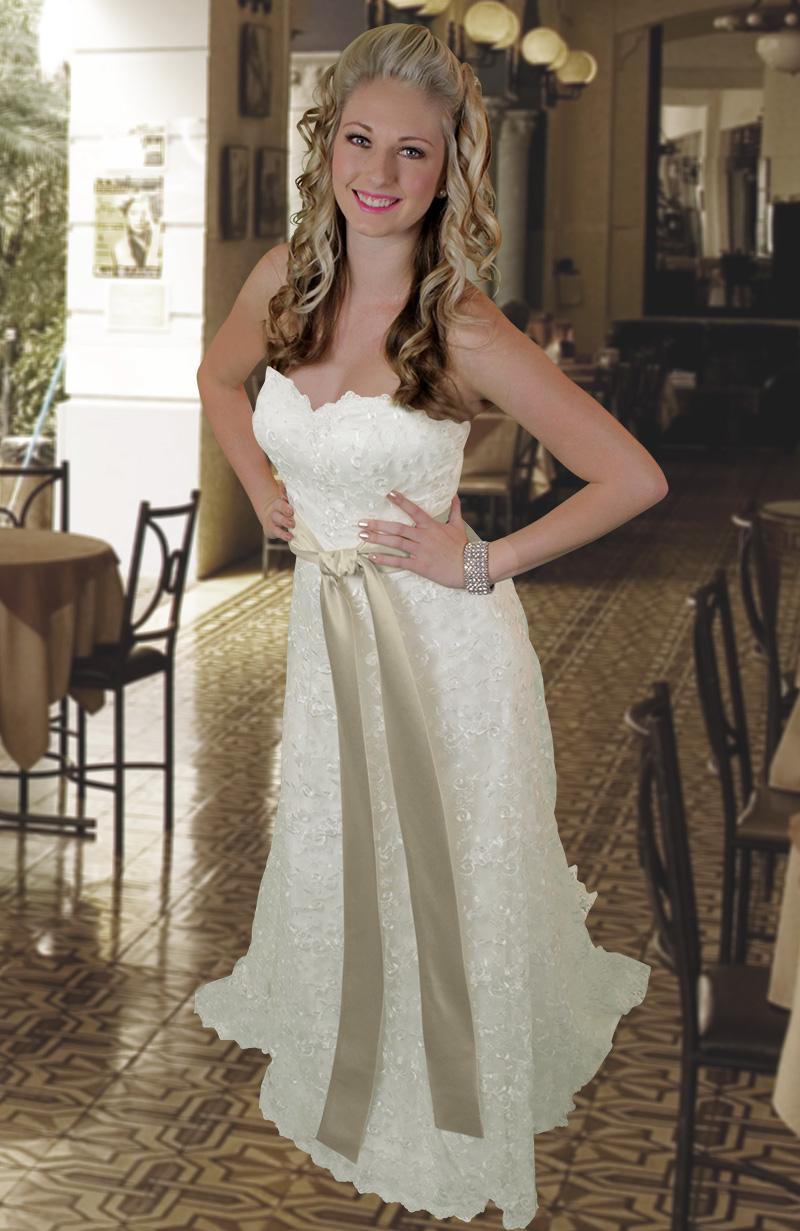 angela custom lace wedding dress lace beach wedding dresses Go to Women