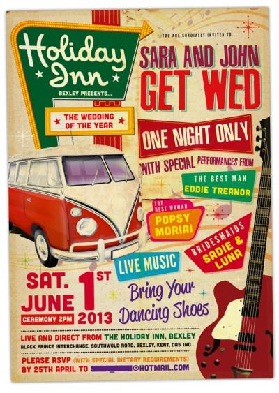 Concert Poster Wedding Invitations | WEDFEST