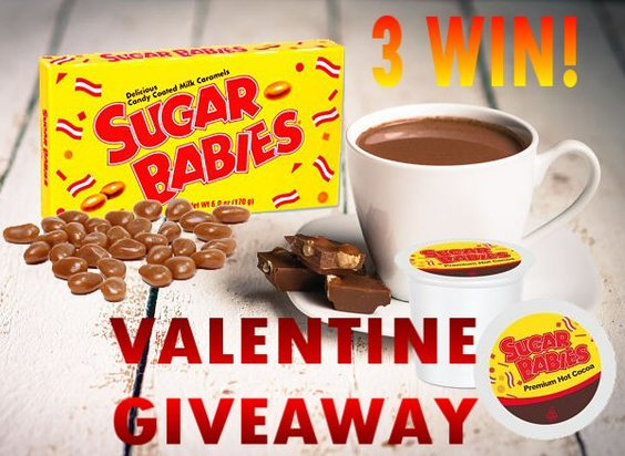 3 Winners! Who's Your Sugar Baby Valentine Giveaway Ends 2/6 #CandyInYourCup