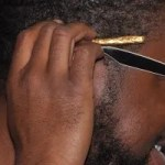 cool guy with gold joint
