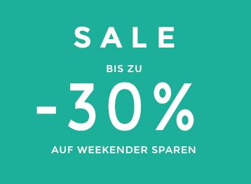 Sale bis zu -30% auf Weekender