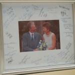 signed board