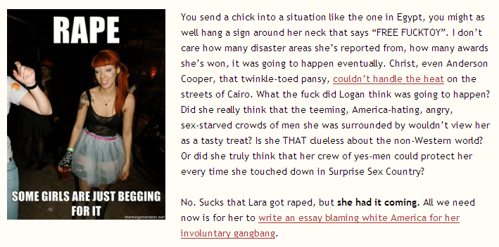 >A New Low in Victim-Blaming, Part 2: In Mala Fide on Lara Logan