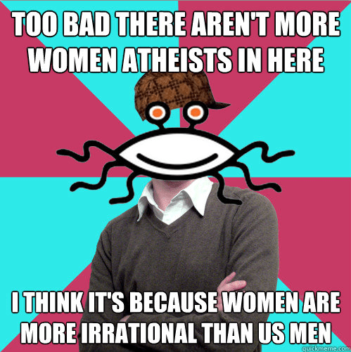 "Breaking News from Imaginary Backwards Land: Atheists ""worship at the altar of feminism."""