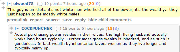 Men's Rights Redditors take on racism. By which they mean a white dude admitting that white dudes aren't actually oppressed