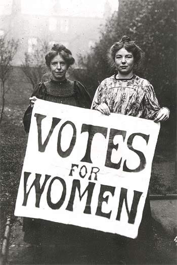 Women's Suffrage: Still controversial, apparently