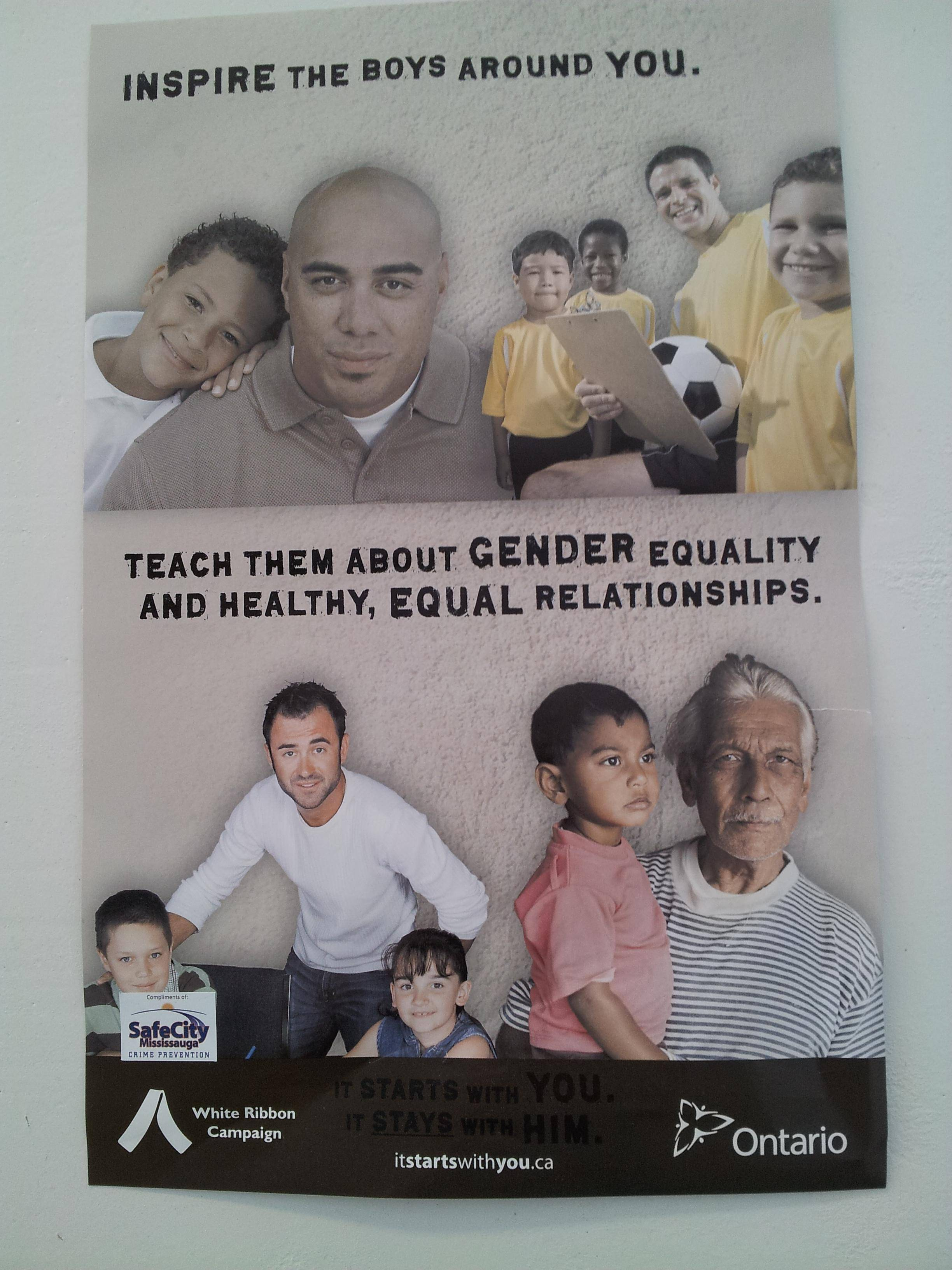"Men's Rights Redditors outraged by poster suggesting that men teach boys ""about gender equality and healthy, equal relationships."""