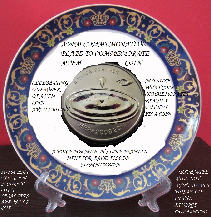 "Belated Award Ceremony for that ""Design a Commemorative Plate for A Voice for Men"" contest with REAL PRIZE"