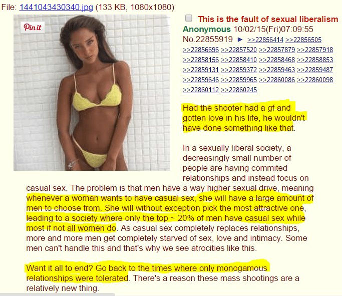 4channers: Women being sluts caused the Umpqua Community College shootings