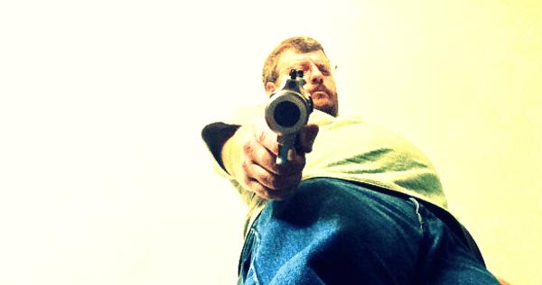 Jack Barnes with gun
