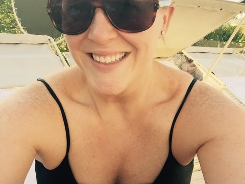 swimsuit selfie