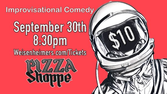 September 30th at the Pizza Shoppe!