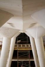 plancher de l'hôtel et toit du restaurant