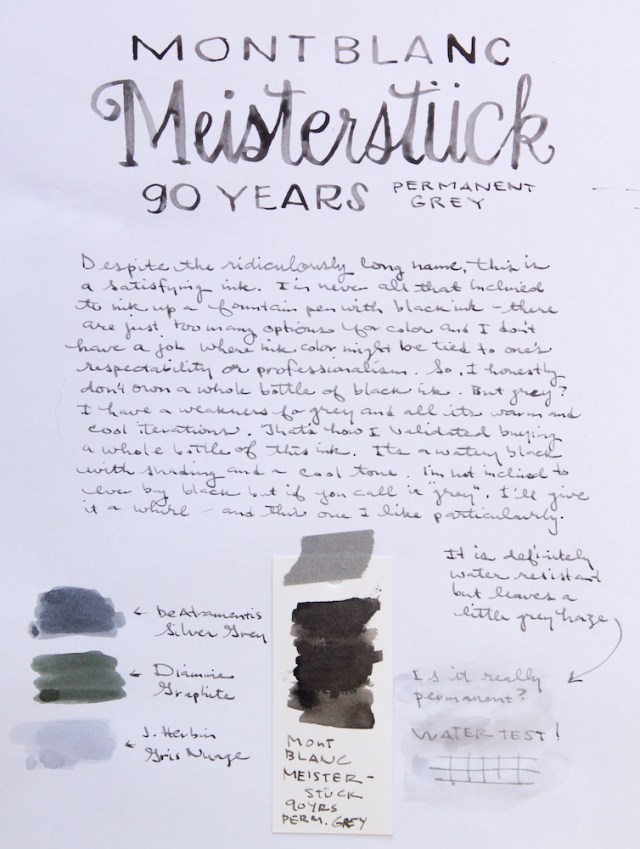 Mont Blanc Meisterstuck 90 Years Permanent Grey