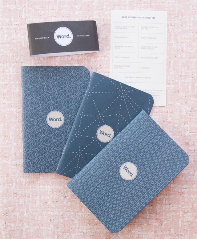 Word. Notebooks indigo