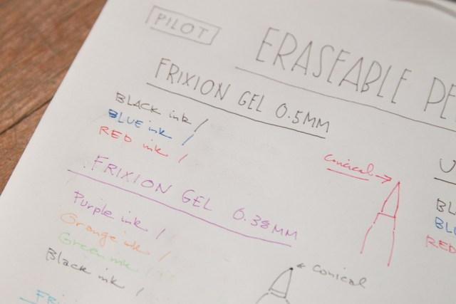 Pilot Frixion Gel 0.5