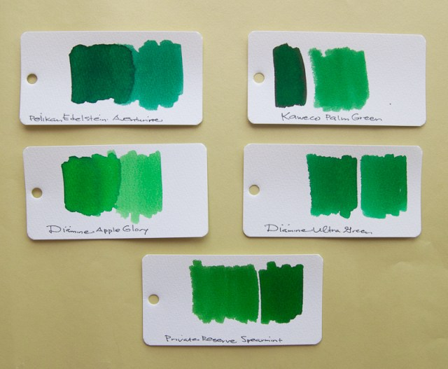 Kaweco Palm Green ink comparison