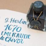 Ink Review: J. Herbin 1670 Emerald of Chivor (plus giveaway!)