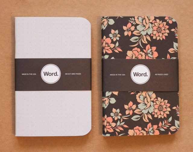 Word Notebooks: Dot Grid and Declan