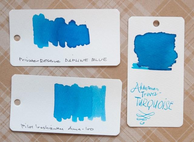 Akkerman Treves Turquoise Ink comparison