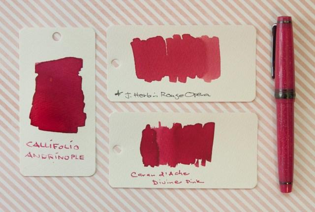 Callifolio Andrinople Ink Comparison