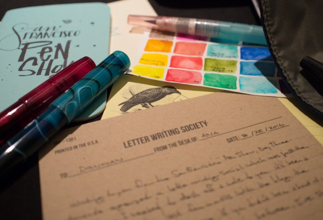 Writing a letter at the Letter Writing Social