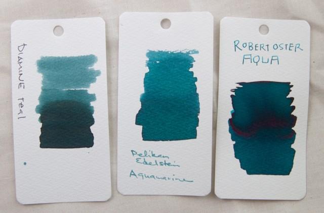 oster aqua ink color comparison 2