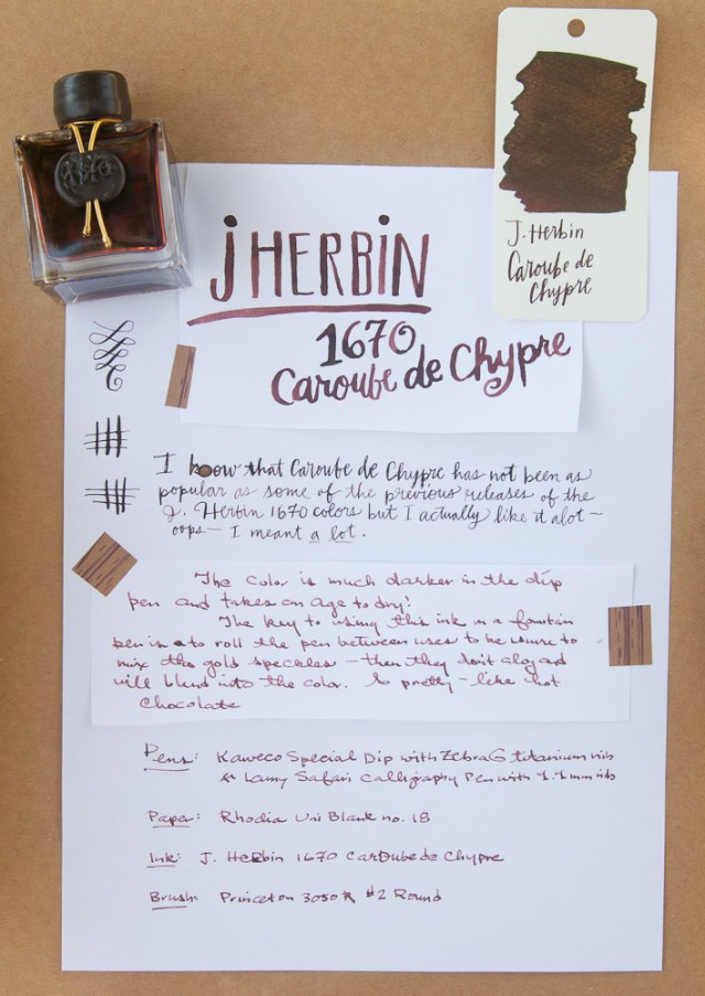 J. Herbin 1670 Caroube de Chypre close-up