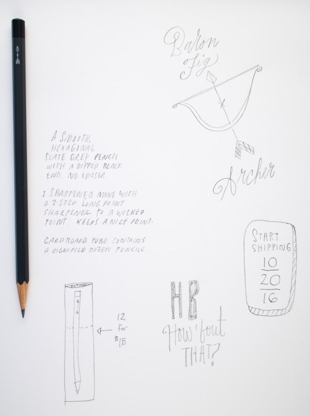 Baron Fig Archer Pencils Writing Sample