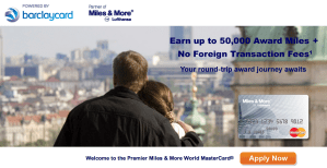 50,000 Lufthansa Premier Miles & More World MasterCard Ending on December 15, 2013